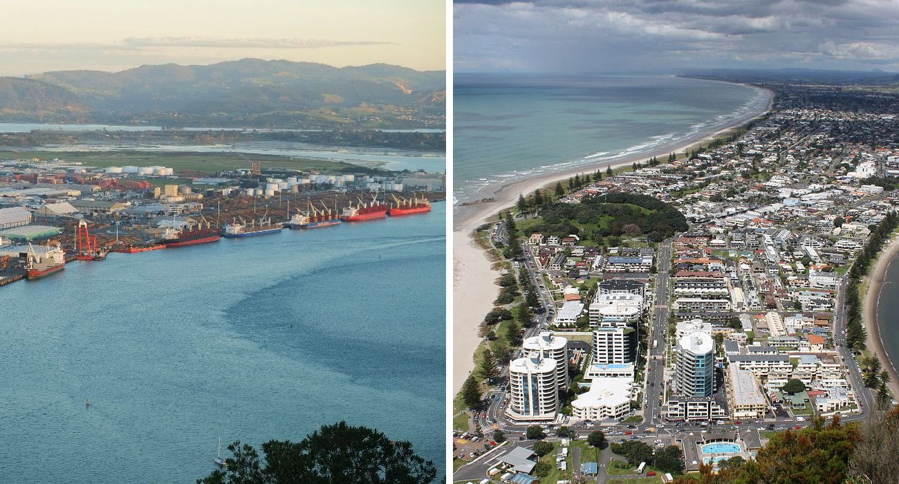 White Island Is In New Zealand's Bay Of Plenty, And You Can Stay In These Two Towns Surrounding It